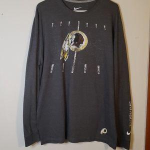 Nike Washington Redskins long sleeve EUC size XL